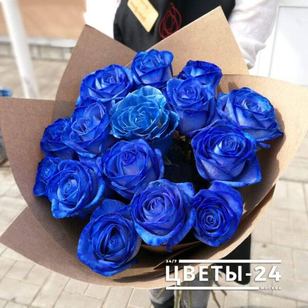 где можно купить синий розы