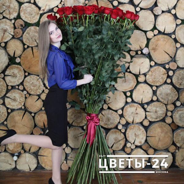 заказать высокие розы с доставкой