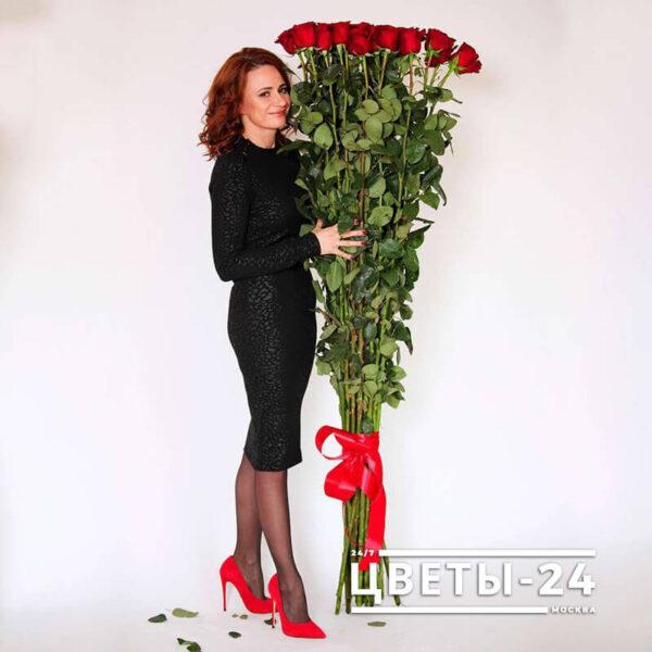 купить высокие розы недорого