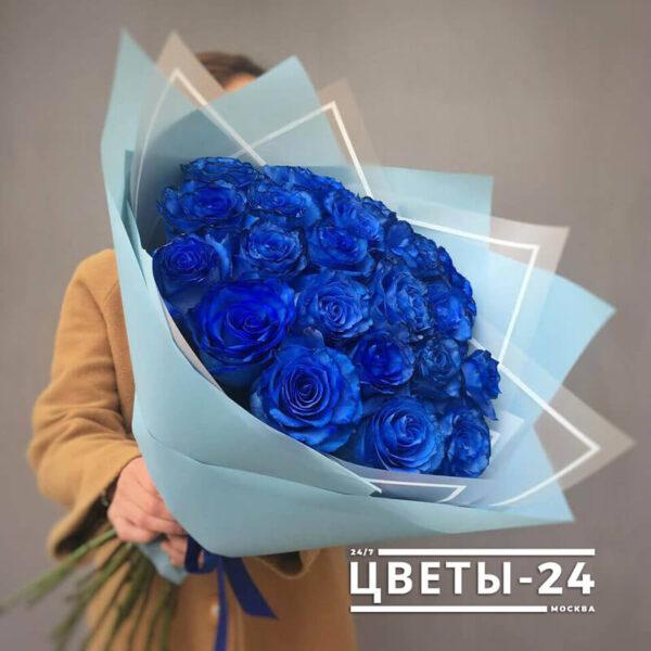 заказать синие розы с доставкой