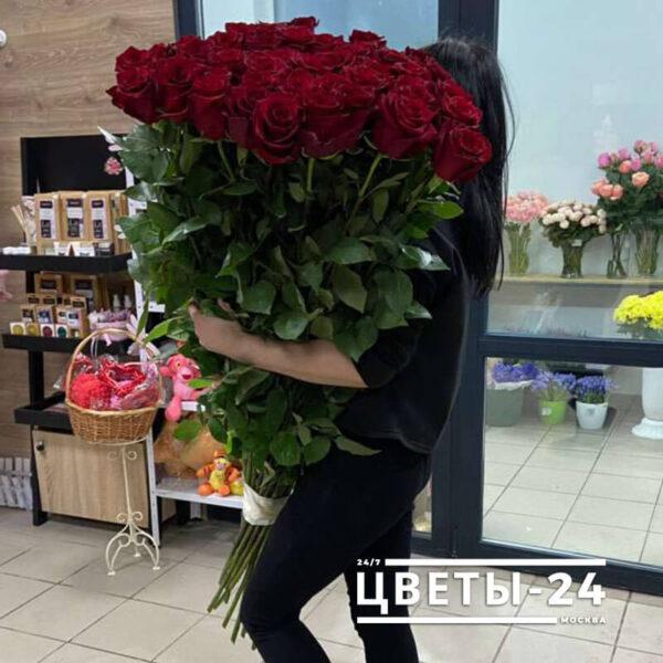 заказать высокие розы Москва